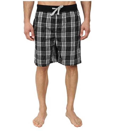 Kenneth Cole Reaction - Sleep Shorts (Black Plaid) Men's Pajama