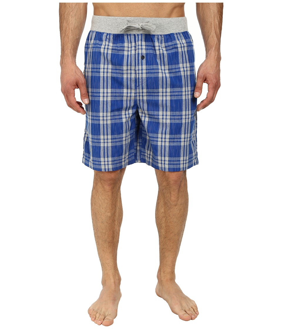Kenneth Cole Reaction - Sleep Shorts (True Blue Plaid) Men's Pajama