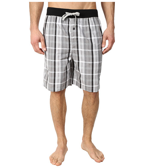 Kenneth Cole Reaction - Sleep Shorts (Grey Shdy Plaid) Men's Pajama