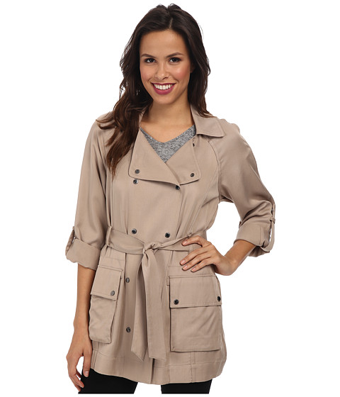 Vince Camuto - Fluid-Short Trench (Naked) Women's Coat