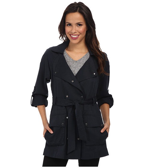 Vince Camuto - Fluid-Short Trench (Navy) Women