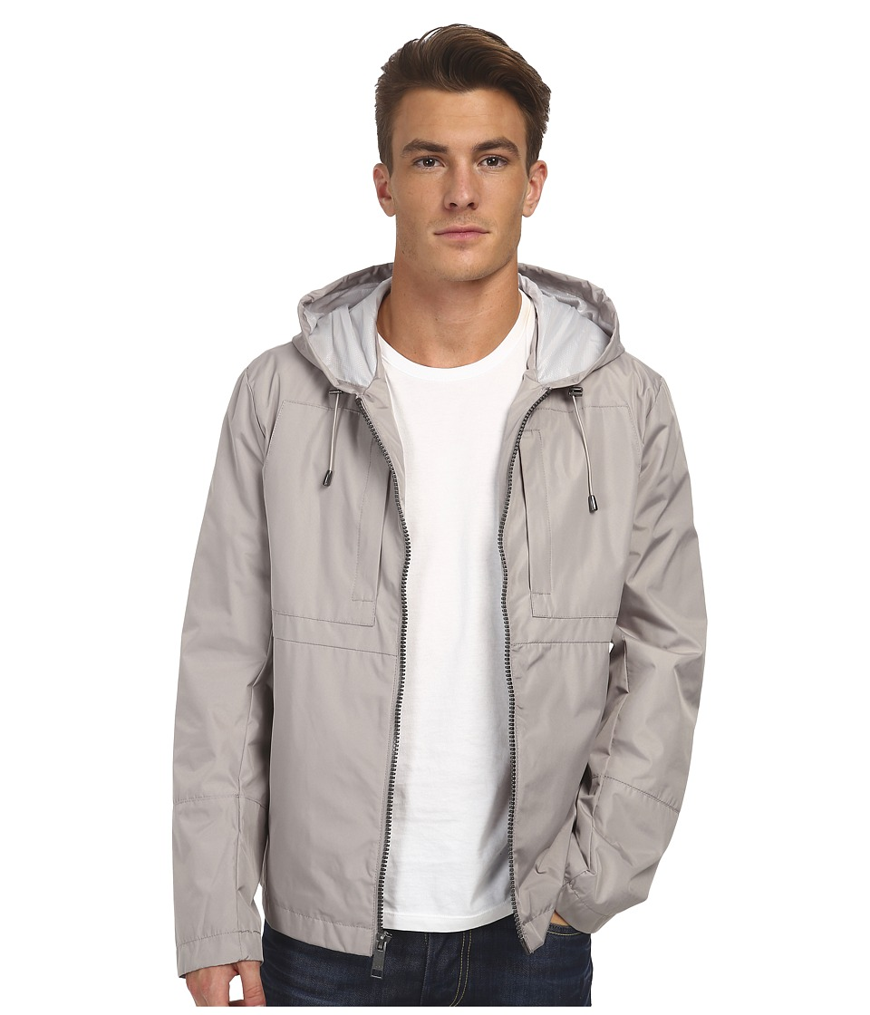Marc New York by Andrew Marc - Brendan - City Rain Tech Hooded Zip Front Open Bottom (Dove Grey) Men