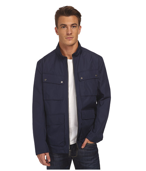 Marc New York by Andrew Marc - Bobby - City Rain Tech Four-Pocket Field Jacket (Navy) Men's Coat