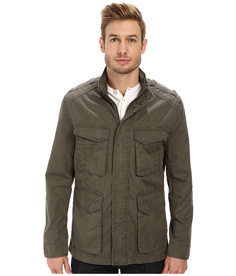Marc New York by Andrew Marc - Edison - Washed Cotton Four-Pocket Field Jacket (Olive) Men's Coat