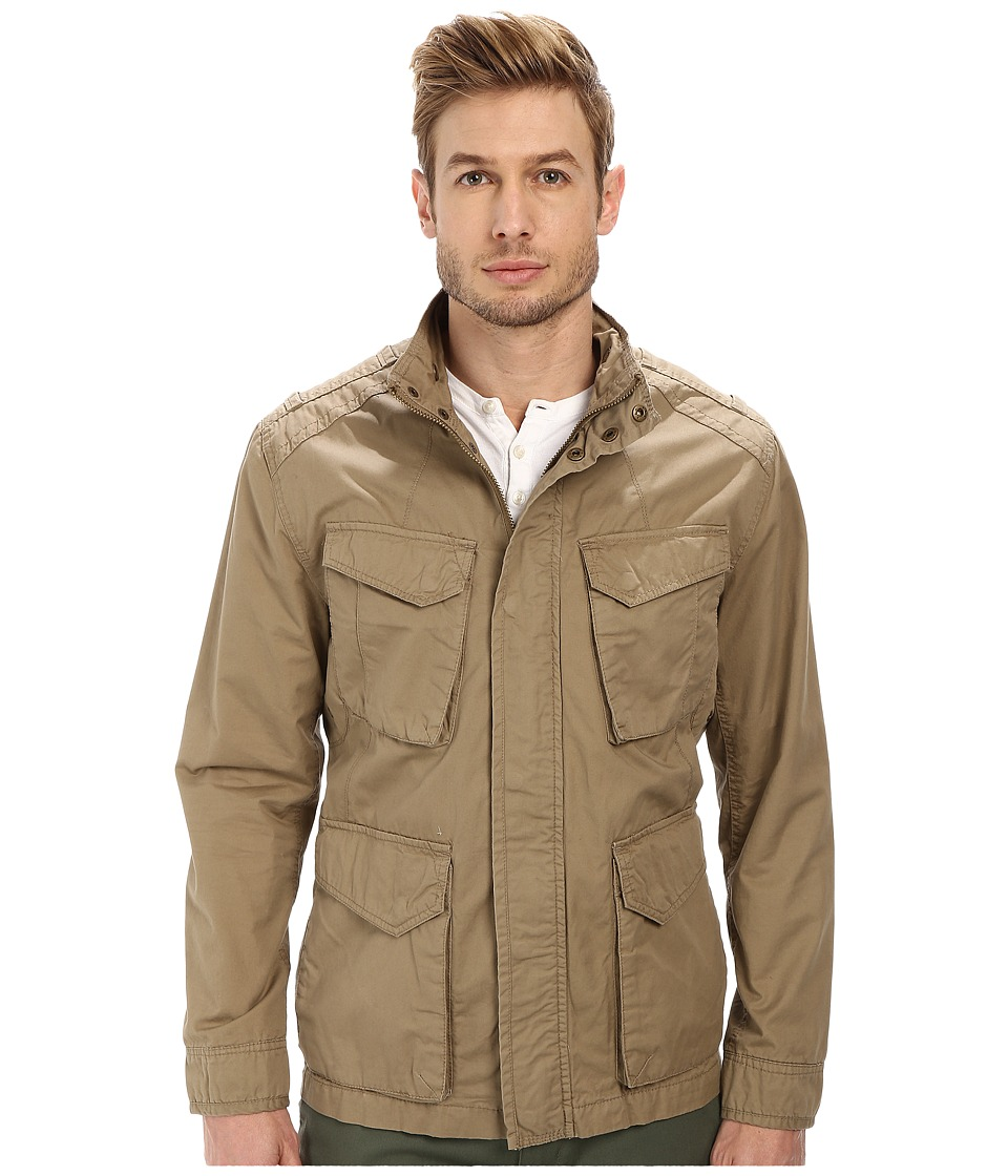 Marc New York by Andrew Marc - Edison - Washed Cotton Four-Pocket Field Jacket (Khaki) Men's Coat