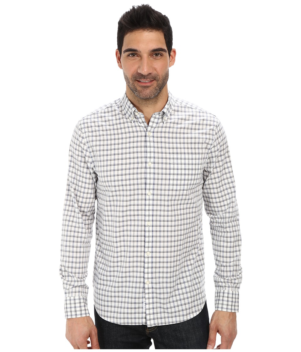 Lucky Brand - Palisades Plaid Shirt (Grey/Blue/White) Men's Long Sleeve Button Up