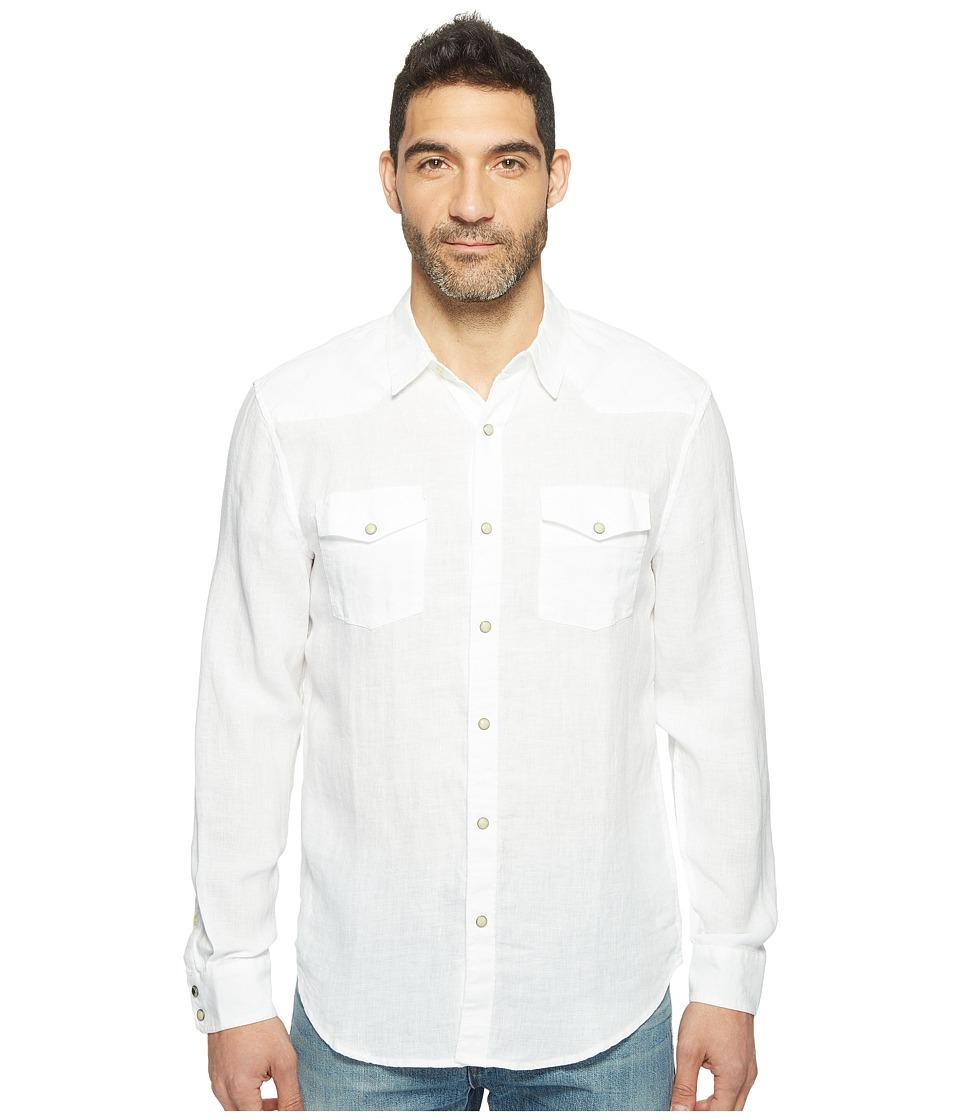 Lucky Brand Reef Linen Western Shirt (White) Men
