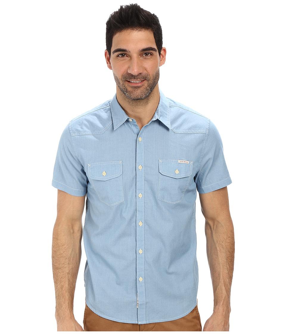 Lucky Brand - Short Sleeve Western Shirt (Indigo) Men's Clothing
