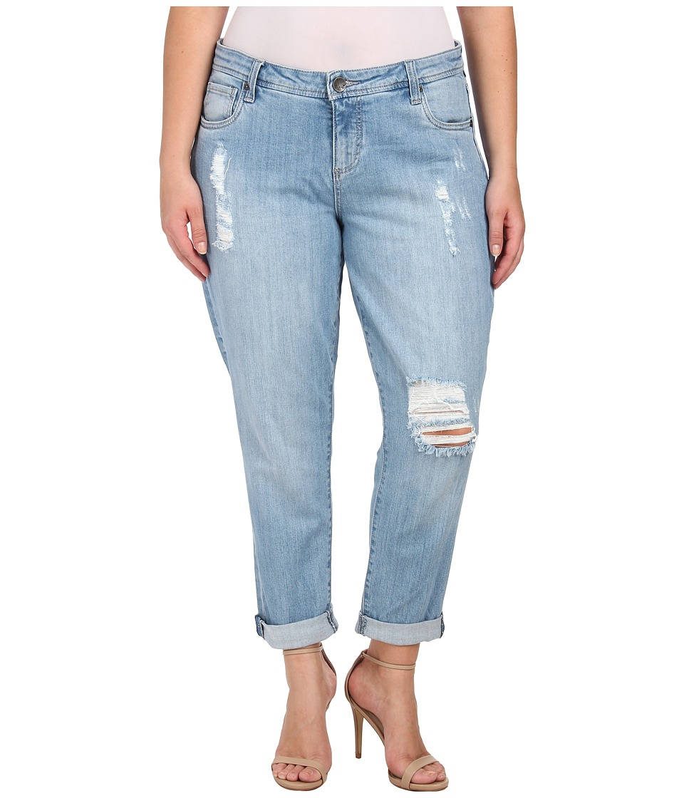 KUT from the Kloth - Plus Size Adele Boyfriend in Slick (Slick) Women's Jeans