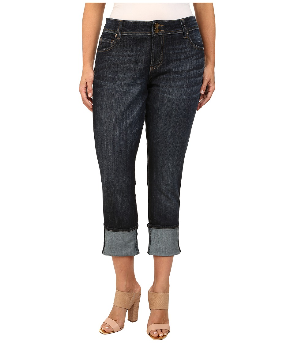 KUT from the Kloth - Plus Size Wide Cuff Straight Leg Jeans in Opulent (Opulent) Women