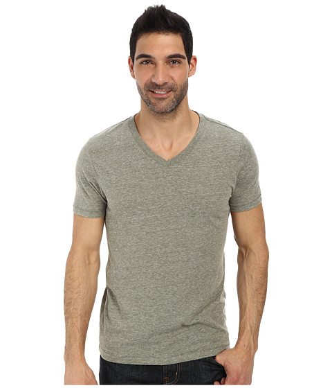 Lucky Brand - Weekend V-Neck Tee (Four Leaf Clover) Men's Short Sleeve Pullover