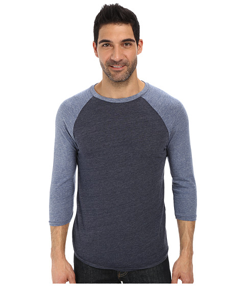 Lucky Brand - Weekend Baseball Tee (Blue Multi) Men's T Shirt