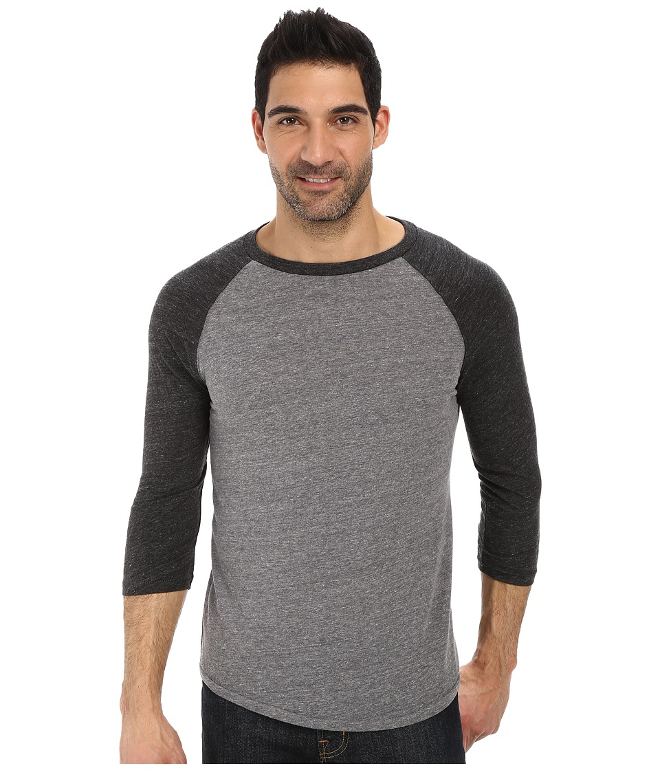 Lucky Brand - Weekend Baseball Tee (Grey Multi) Men's T Shirt