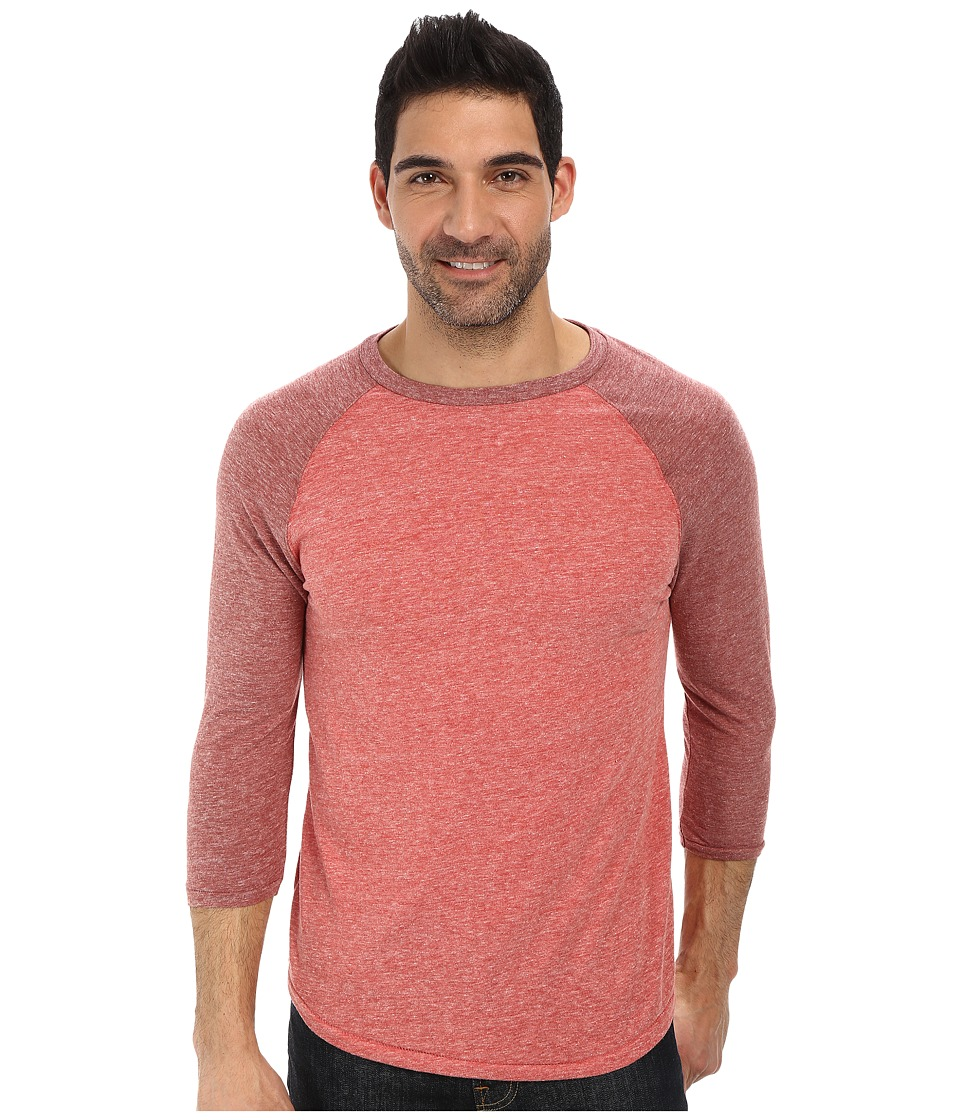 Lucky Brand - Weekend Baseball Tee (Red Multi) Men