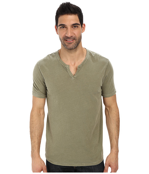 Lucky Brand - Slub Notch Neck (Lily Pad) Men's Short Sleeve Pullover