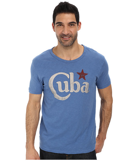 Lucky Brand - Visit Cuba (Federal Blue) Men's Short Sleeve Pullover