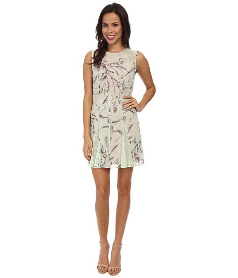BCBGMAXAZRIA - Gwenyth Blocked Sleeveless Dress (Light Mint Combo) Women