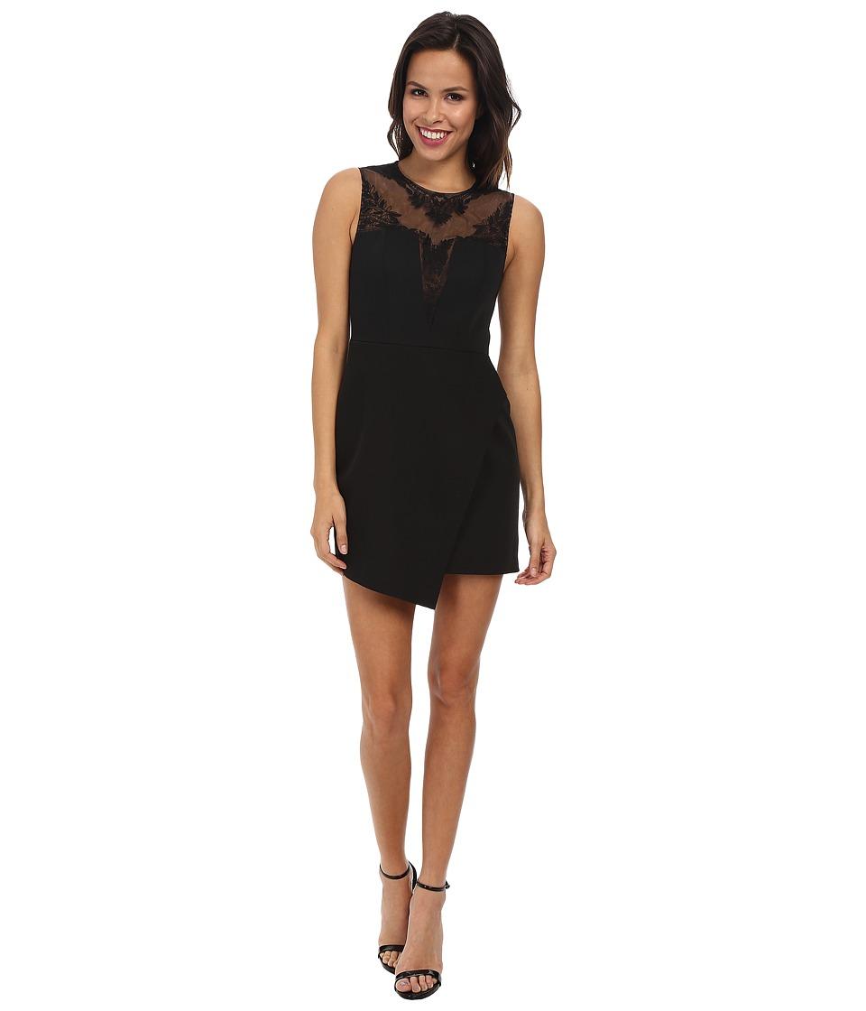 BCBGMAXAZRIA - Kinsley Round Necnk Dress with Peplum (Black) Women