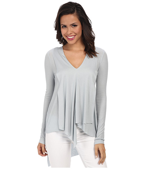 BCBGMAXAZRIA - Trishna Long Sleeve Asymmetrical Top (Haze) Women