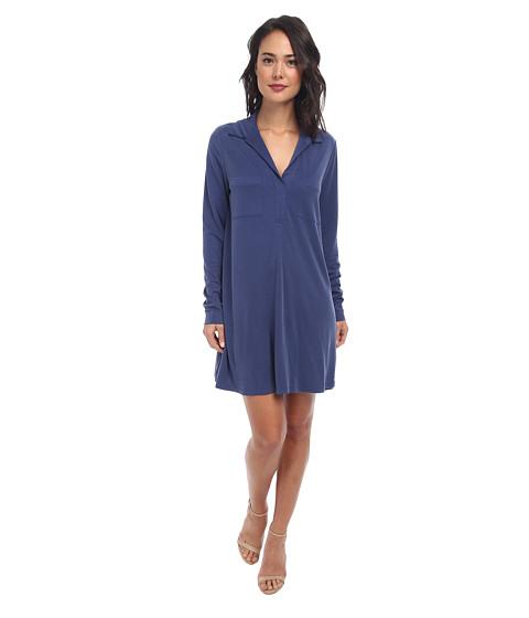 BCBGMAXAZRIA - Blakely Oversized Dress with Collar (Vintage Blue Depths) Women