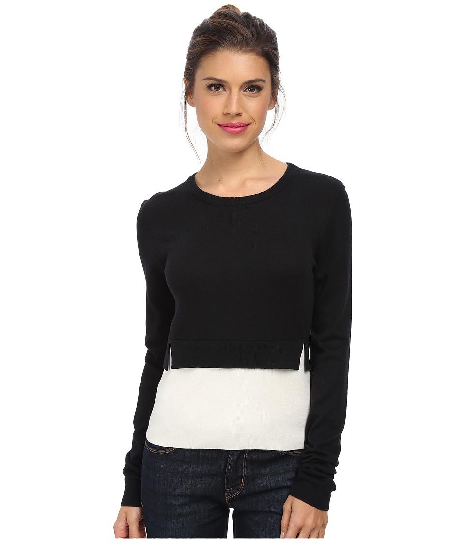 BCBGMAXAZRIA - Suzzane Color Blocked Pullover (Black Combo) Women