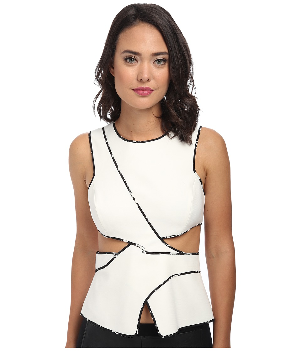 BCBGMAXAZRIA - Arianah Cutout Top (Off White) Women's Clothing