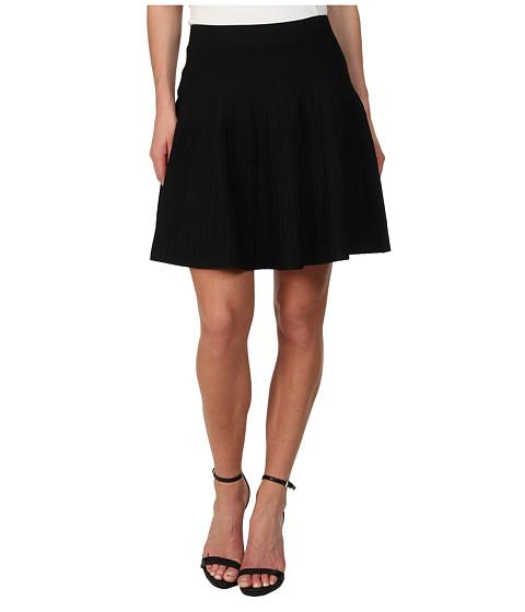 BCBGMAXAZRIA - Kelli Ottoman A-Line Skirt (Black) Women