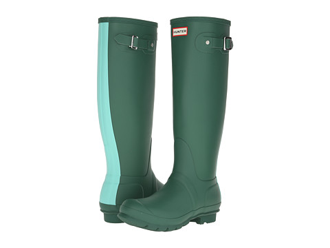 Hunter - Original Stripe (Dark Malachite/Tourmaline) Women's Rain Boots