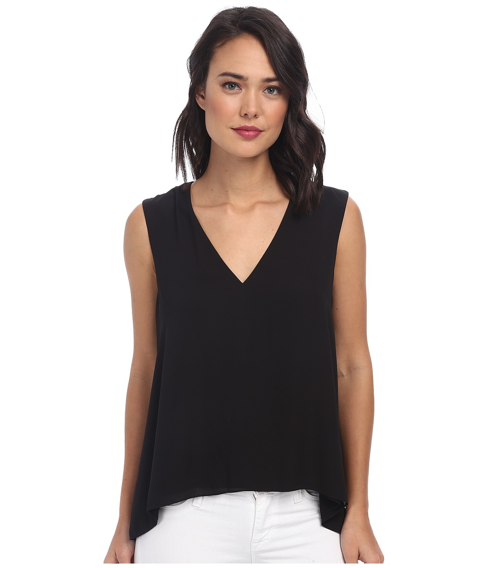 BCBGMAXAZRIA - Eliza Sleeveless Top with Back Cowl (Black) Women