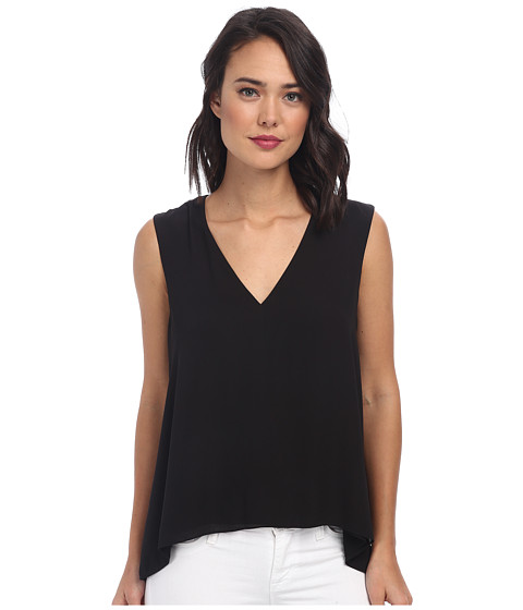 BCBGMAXAZRIA - Eliza Sleeveless Top with Back Cowl (Black) Women's Sleeveless