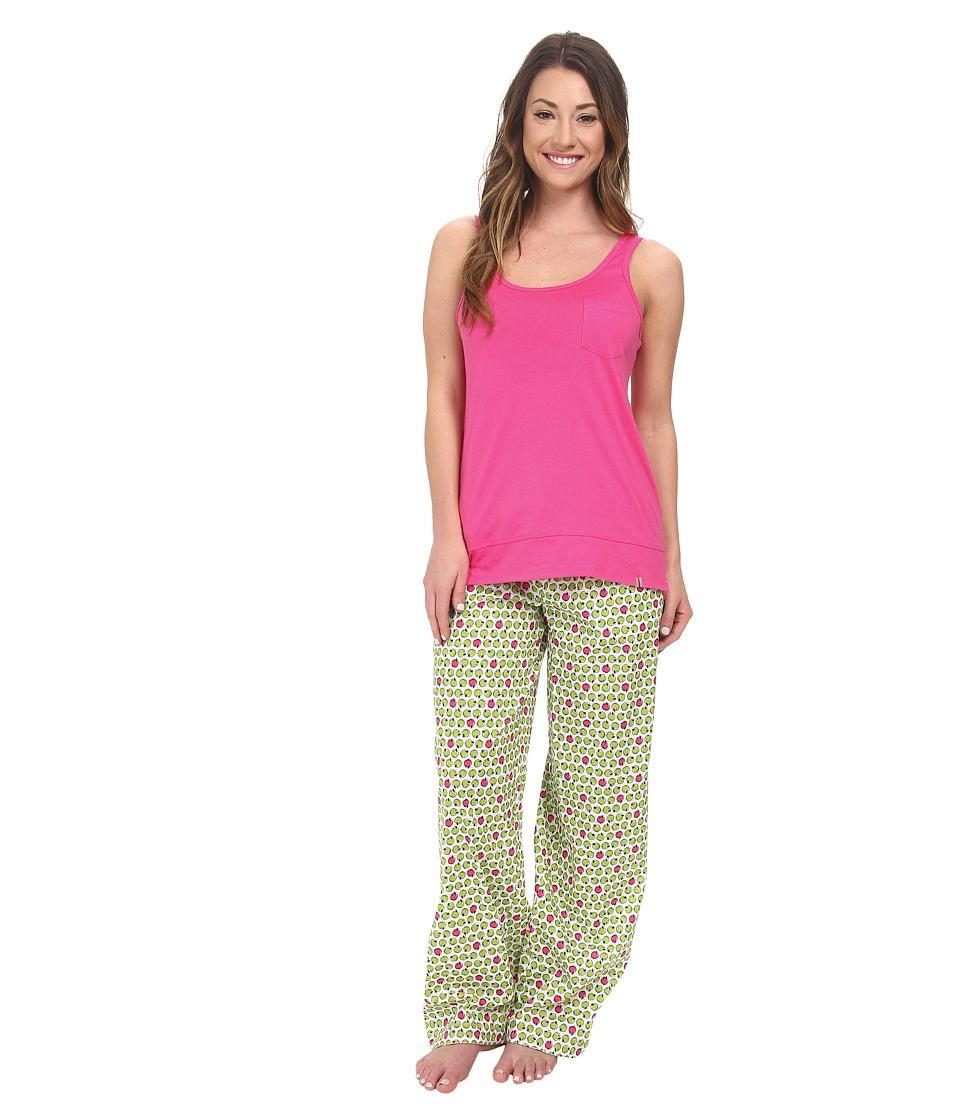 Jane & Bleecker - Jersey Tank Top Batiste Pants Set 352940 (Orchard Apples) Women's Pajama Sets