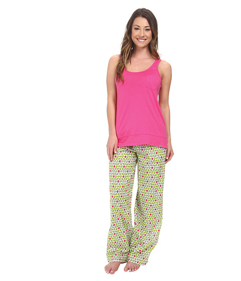 Jane & Bleecker - Jersey Tank Top Batiste Pants Set 352940 (Orchard Apples) Women