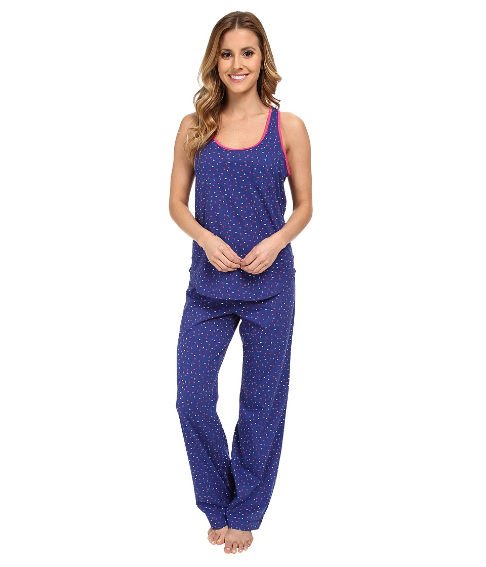 Jane & Bleecker - Jersey Tank Top Pants Set 351940 (Love Confetti) Women's Pajama Sets
