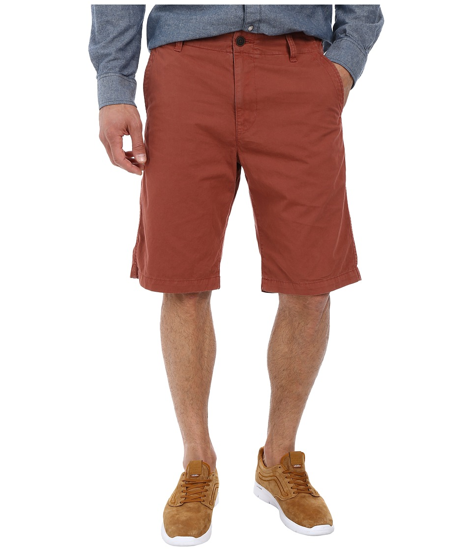 Lucky Brand - Vista Flat Front Shorts (Red Clay) Men