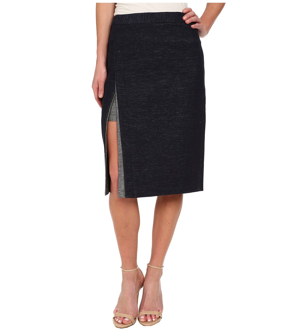 BCBGMAXAZRIA - Grayce Contrast Trim Pencil Skirt (Dark Midnight) Women