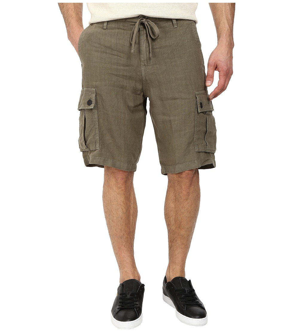 Lucky Brand - Newport Linen Cargo Shorts (Field Green) Men