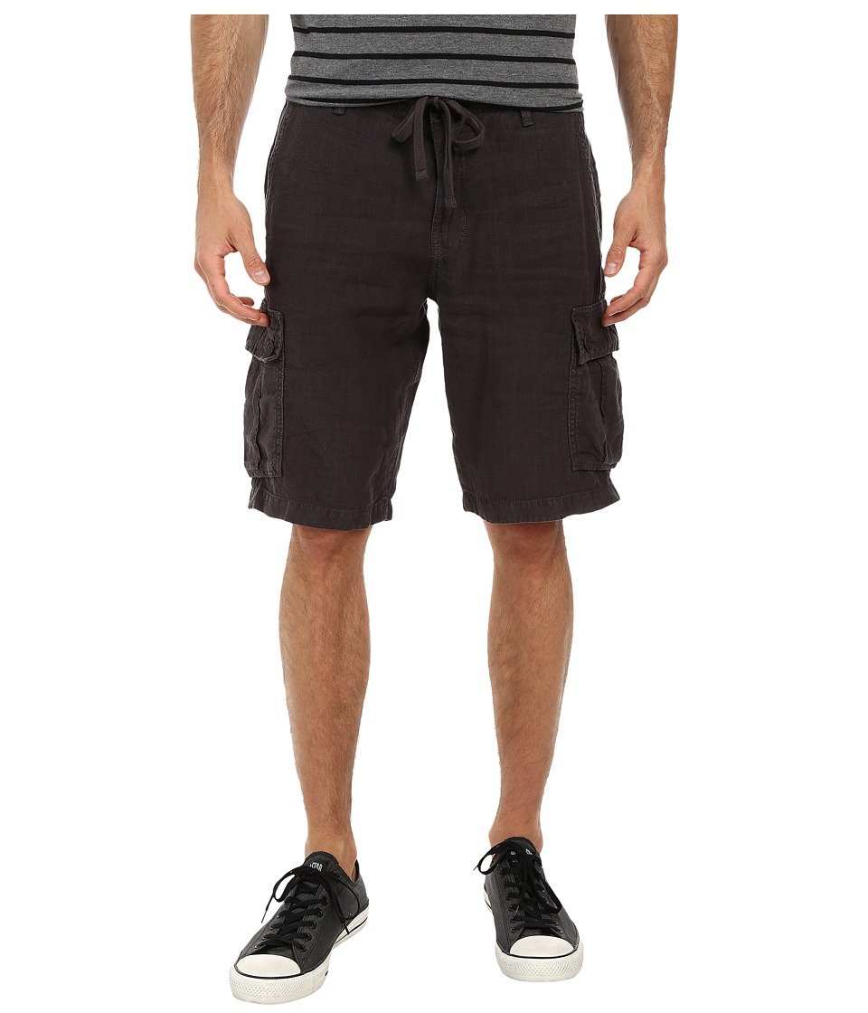 Lucky Brand - Newport Linen Cargo Shorts (True Black) Men's Shorts