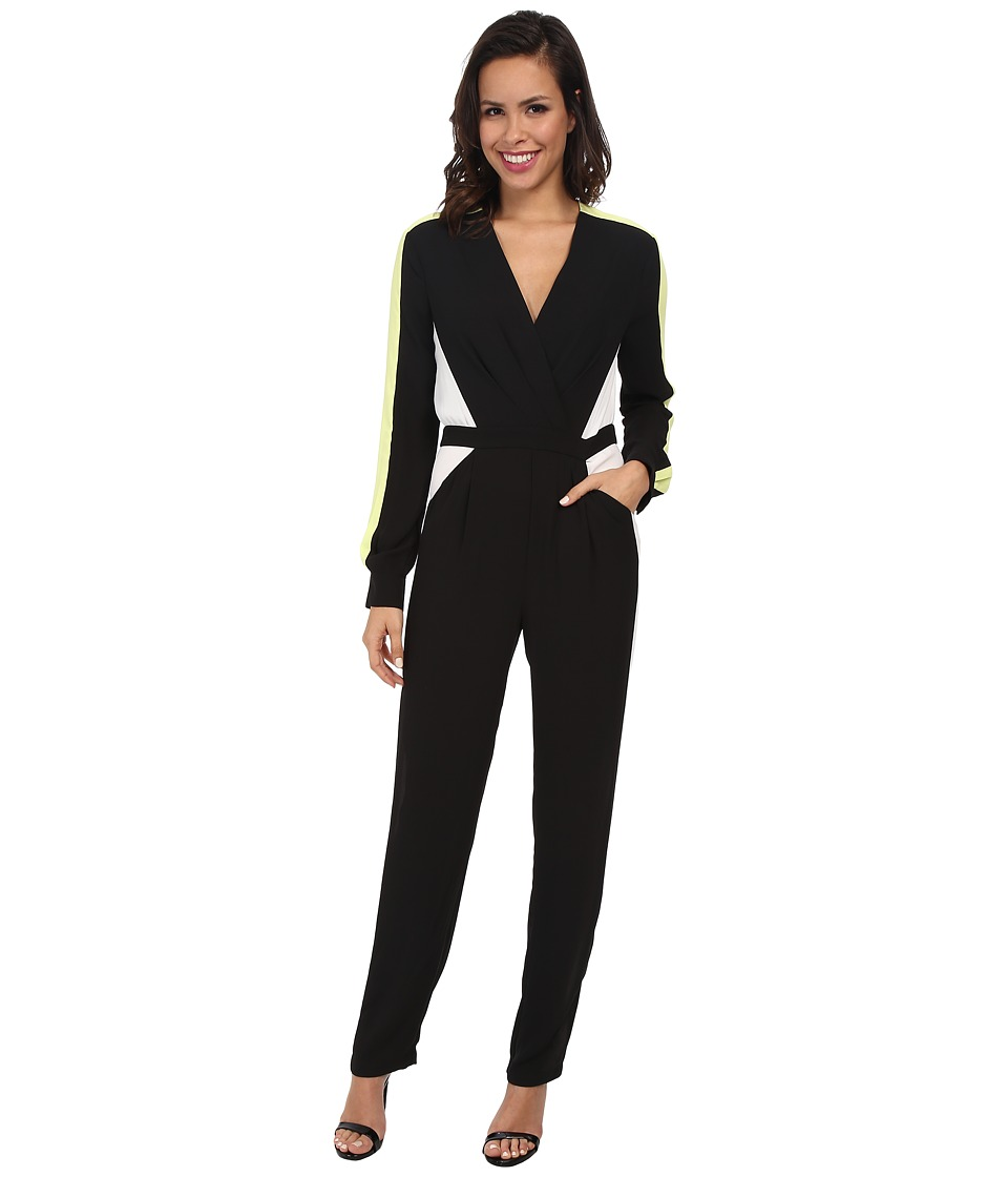 BCBGMAXAZRIA - Katharine Color Block Jumpsuit (Black Combo) Women