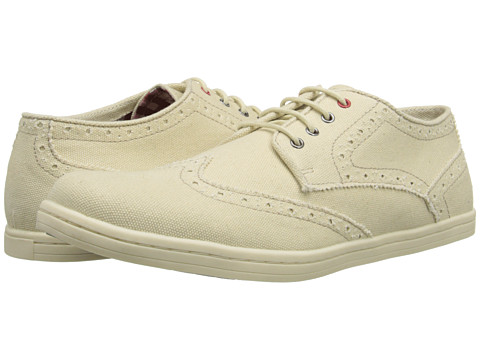 Ben Sherman - Nick Canvas (Off White) Men's Lace Up Wing Tip Shoes