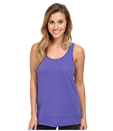 Jane & Bleecker - Jersey Split Hem Tank Top 350910 (Deep Purple) Women