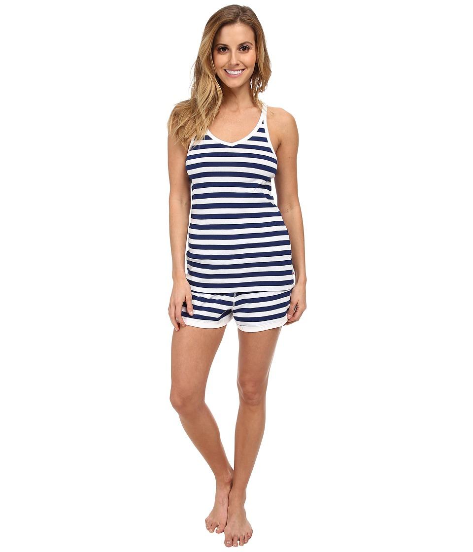 Jane & Bleecker - Rib Tank Top Shorts Set 353940 (Seuss Stripe) Women's Pajama Sets