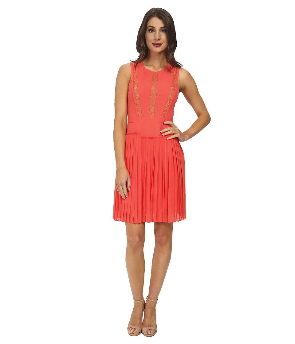 BCBGMAXAZRIA - Faythe Halter Dress with Pleated Skirt (Ambrosia) Women's Dress