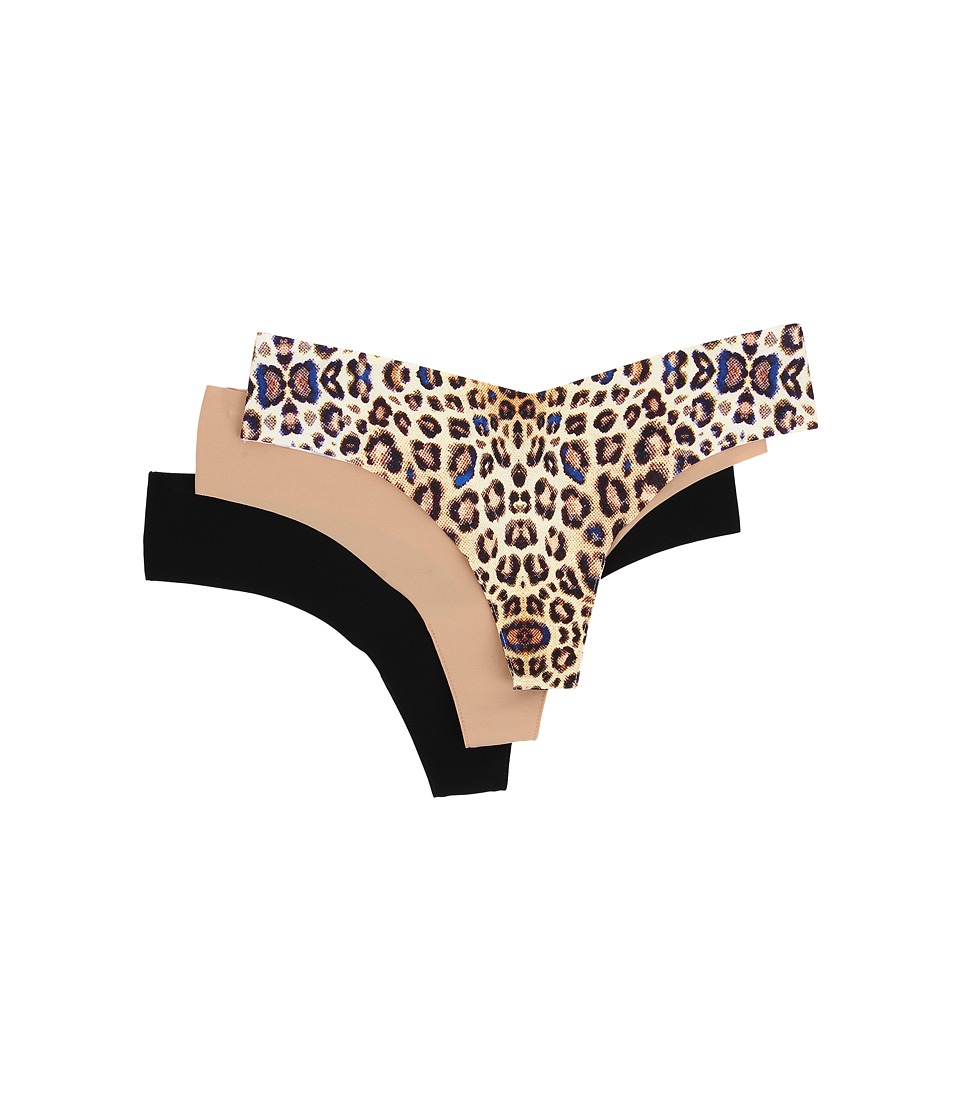 Commando - Thong 3-Pack GP038 (Wildcat/True Nude/Black) Women's Underwear