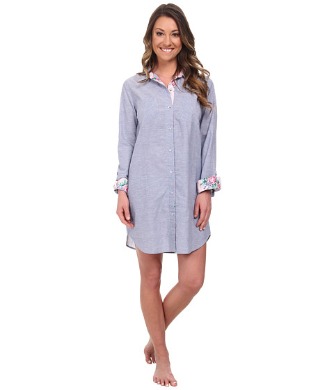 Jane & Bleecker - Batiste Sleepshirt 356952 (Chambray Blue) Women's Pajama