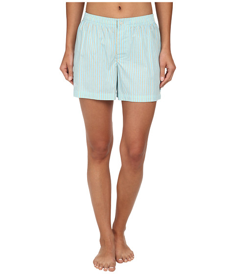 LAUREN by Ralph Lauren - Garden Party Boxer Shorts (Beachcomber Stripe Cove Turquoise/White/Yellow) Women