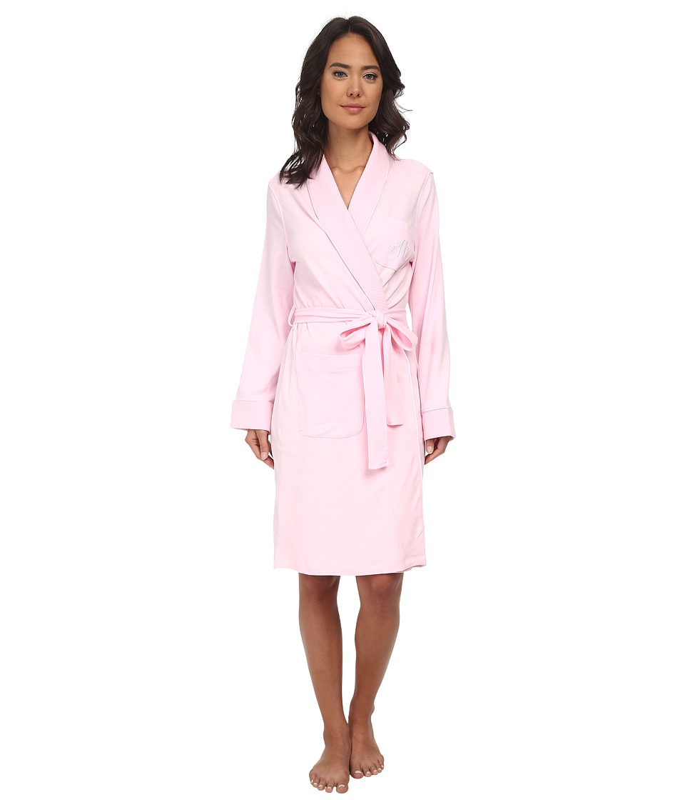 LAUREN Ralph Lauren - Essentials Quilted Collar and Cuff Robe (Biscayne Rose) Women's Robe