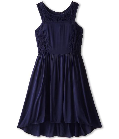 Ella Moss Girl - Primrose Crochet Dress (Big Kids) (Navy) Girl