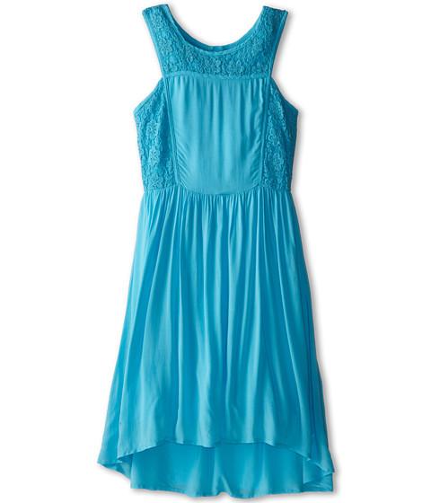 Ella Moss Girl - Primrose Crochet Dress (Big Kids) (Aqua) Girl