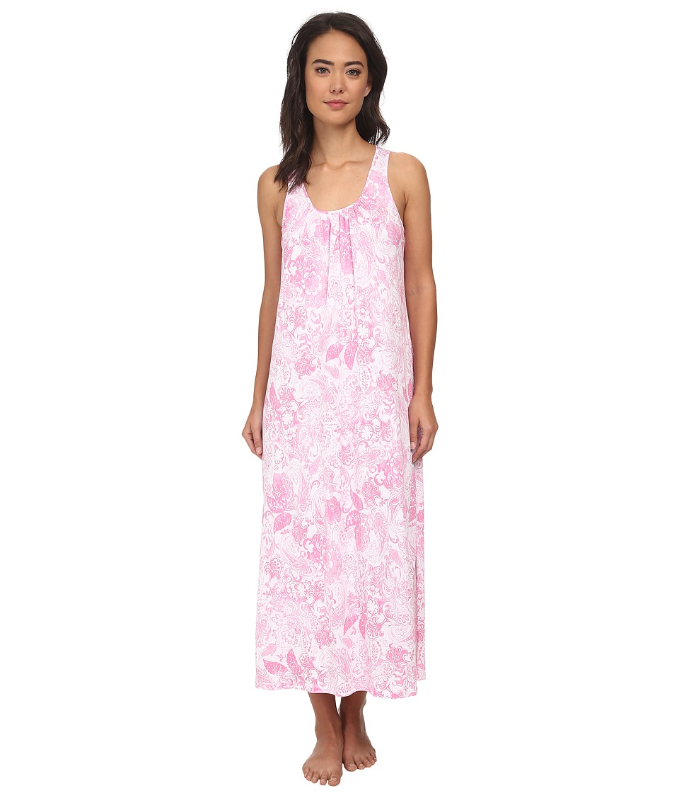 LAUREN by Ralph Lauren - Goa Long Gown w/ Scoop Neck (Rambagh Floral White/Pink) Women's Pajama