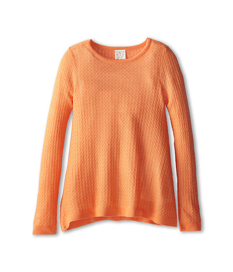 Ella Moss Girl - Daisy Lurex Loose Knit Sweater (Big Kids) (Peach) Girl